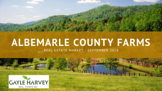 Market Report_September 2018 for Albemarle County, Virginia Farms