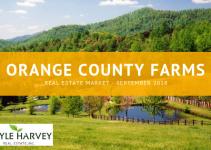 Real Estate Market Update for farms in Orange County, VA